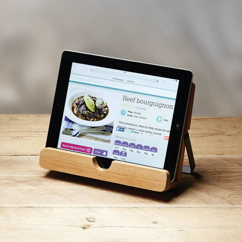 Acacia Wood Cookbook & Tablet Stand