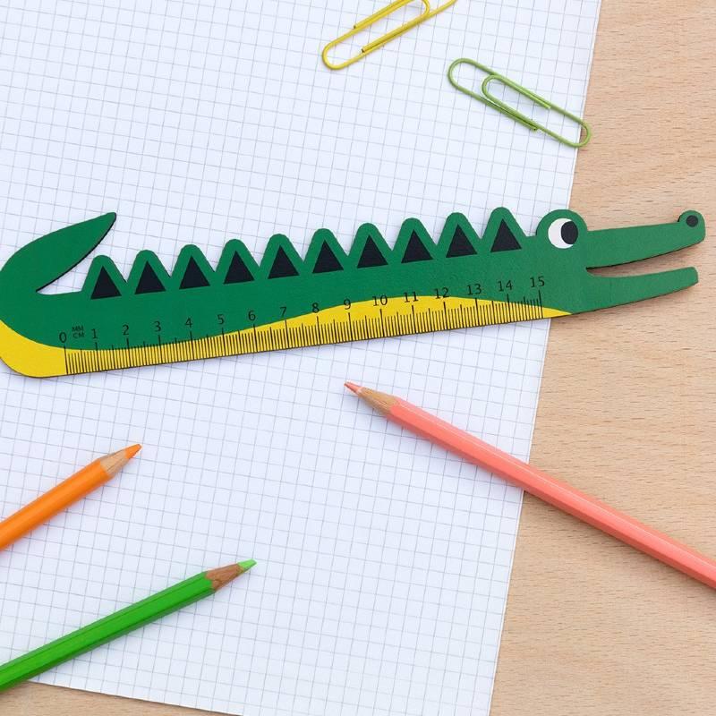 Crocodile Wooden Ruler