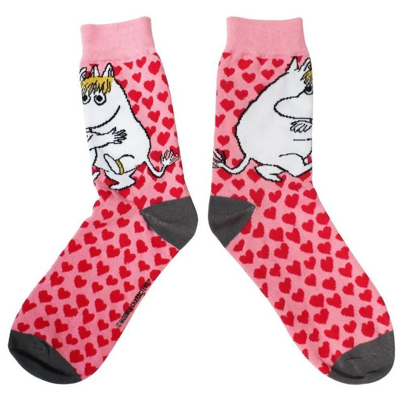 Moomin Heart Print Socks