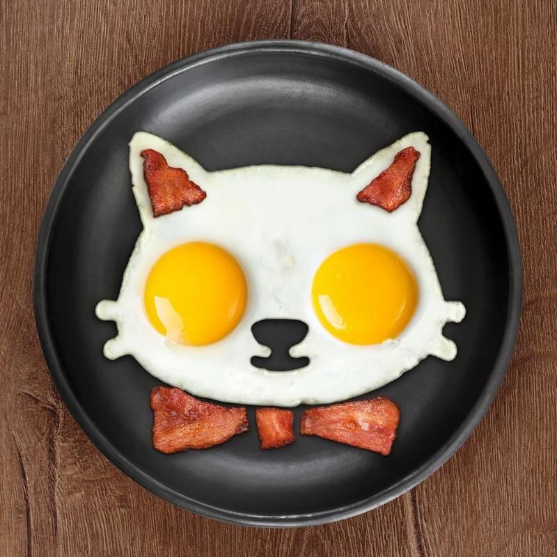 Funnyside Up Cat Egg Mold