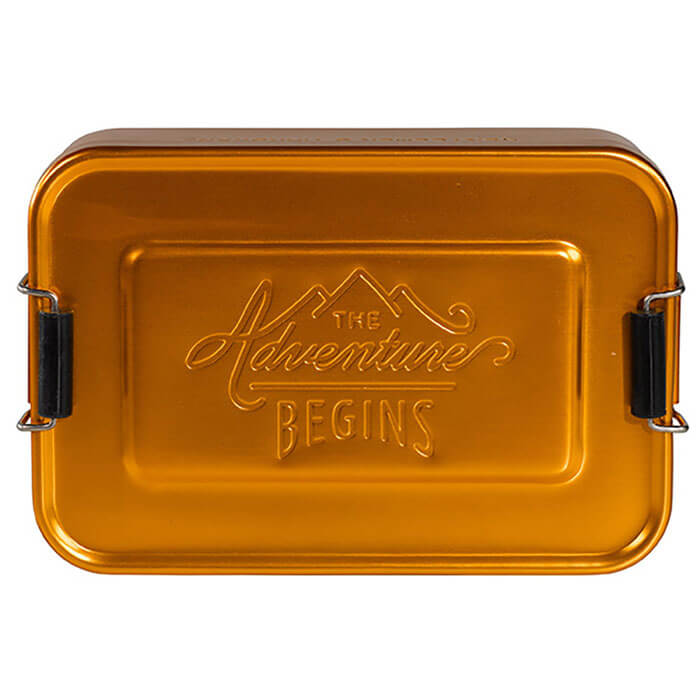 Gold Aluminium Lunch Tin