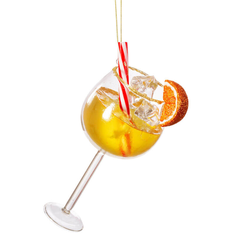 Aperol Spritz Glass Shaped Bauble