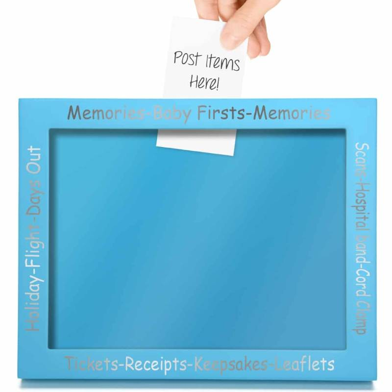 Baby Memory Picture Frame Blue