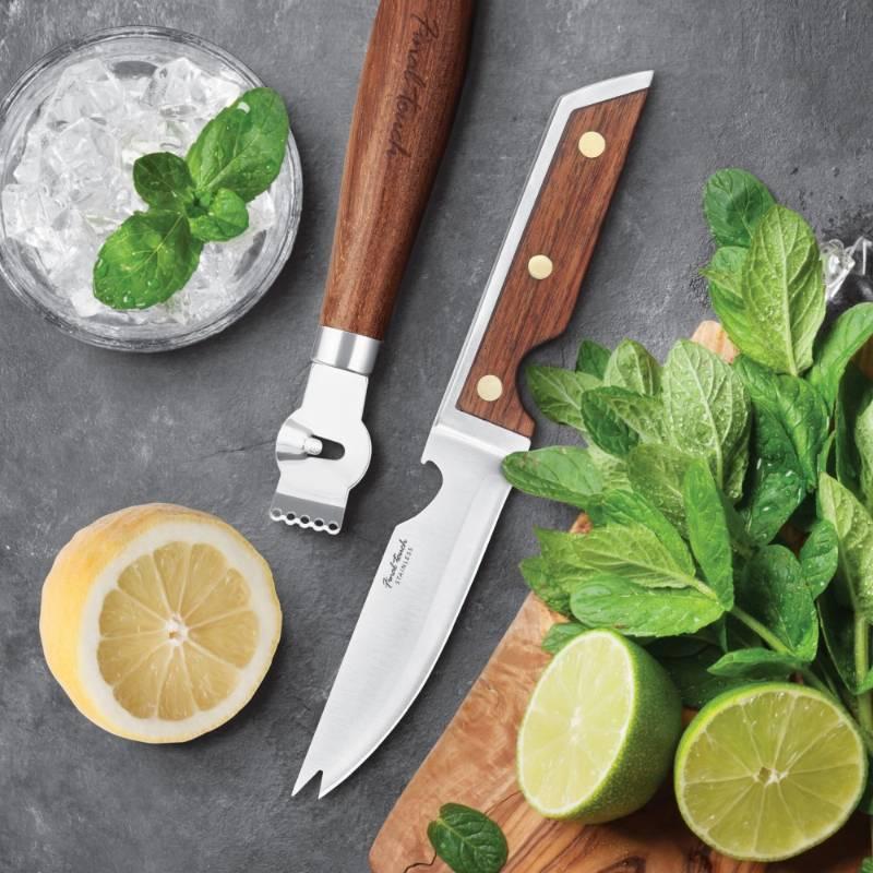 Bartender's Bar Knife & Zester Set