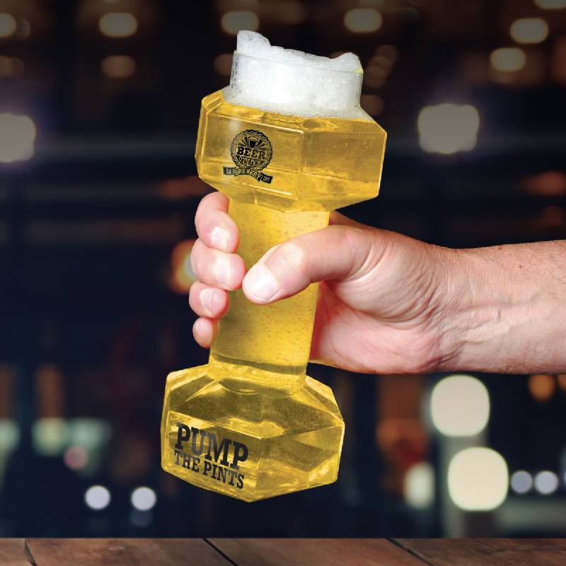 Hantel-Bierglas