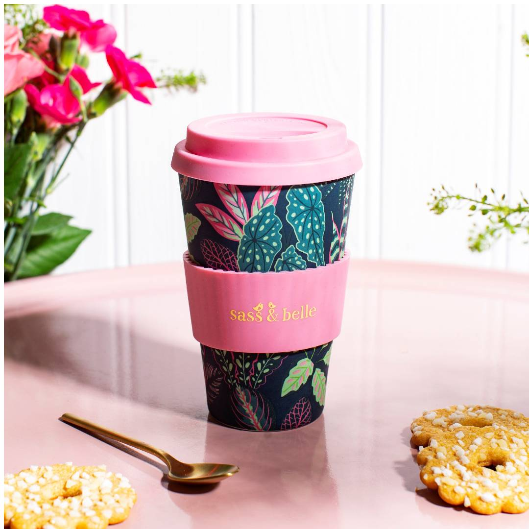 Variegated Leaves Coffee Cup