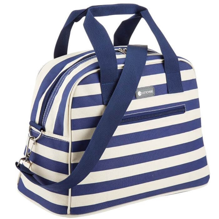Blue Stripe Holdall Style Cool Bag