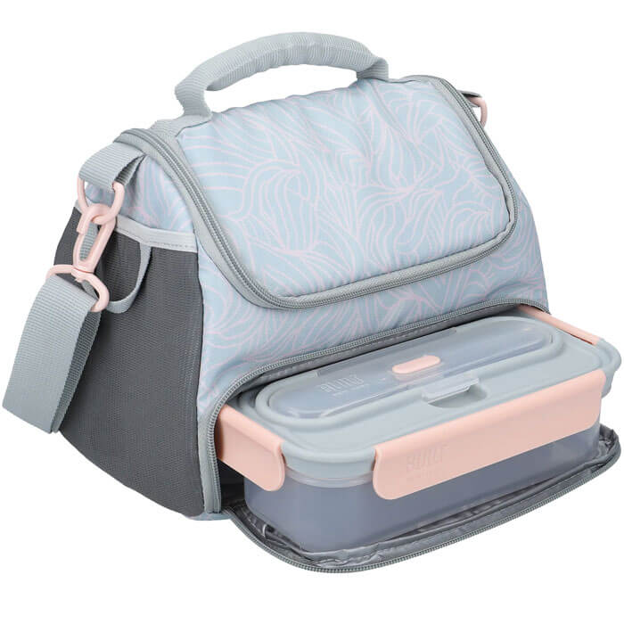 Lunch Bag with Lunch Box and Water Bottle