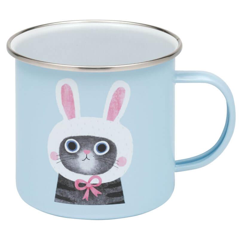 Bunny Cat Enamel Mug