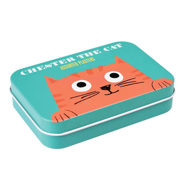 Chester The Cat Plasters In A Tin