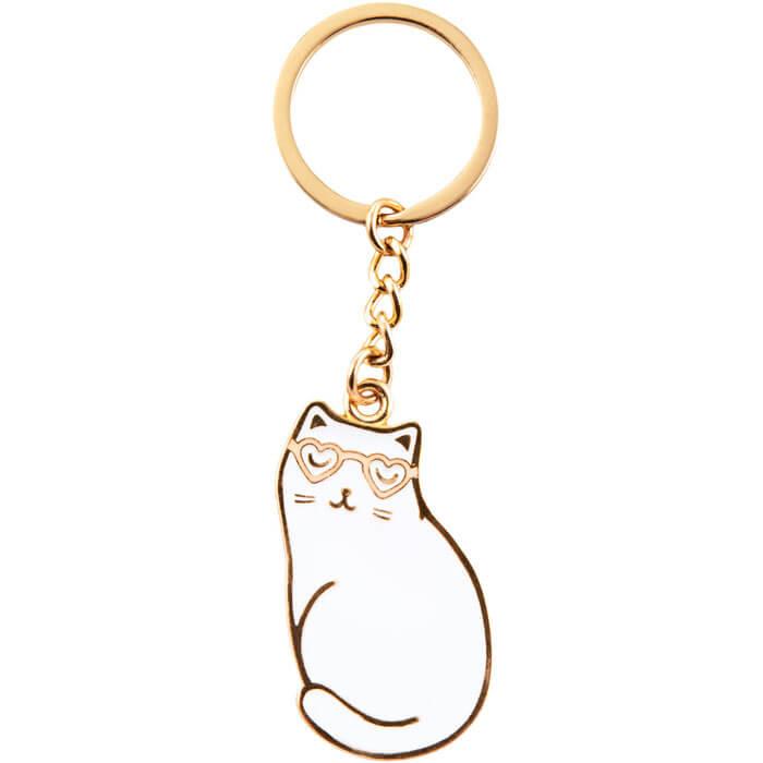 Cutie Cat Enamel Keyring