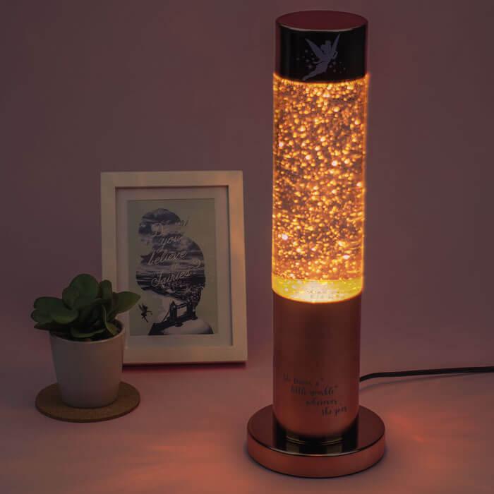 Tinkerbell Glitzer Lampe