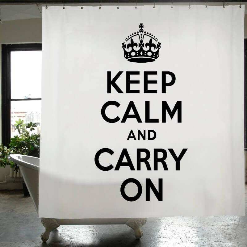 Shower Curtain - Keep Calm and Carry On