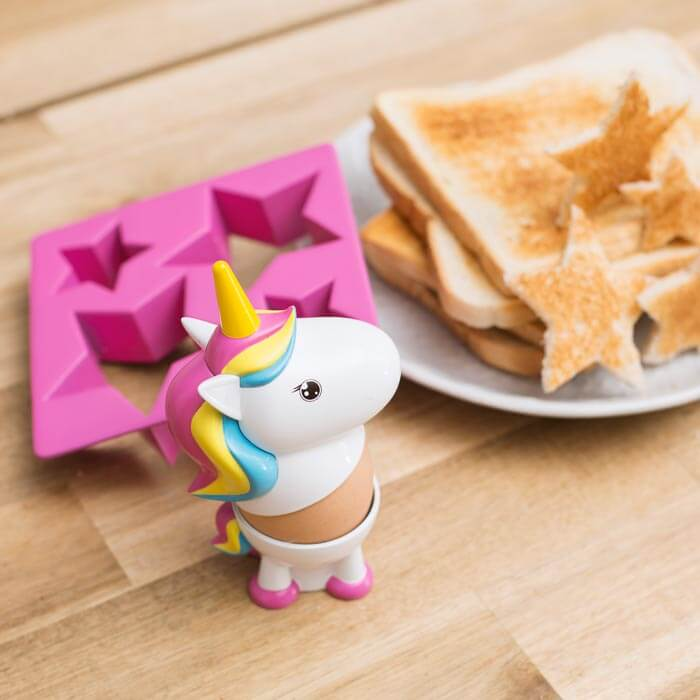 Portauovo e Formina per Toast Unicorno