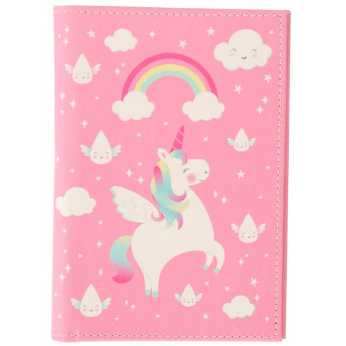 Rainbow Unicorn Passport Holder