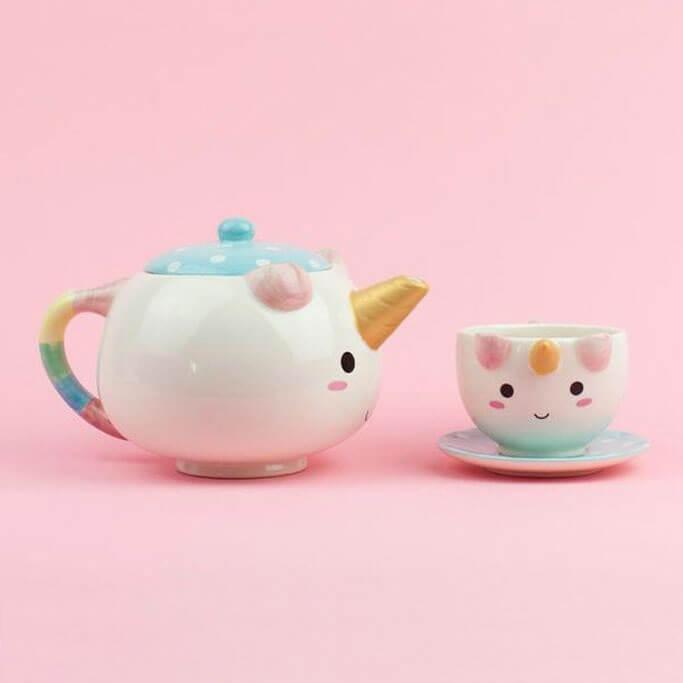 Einhorn Tee-Set