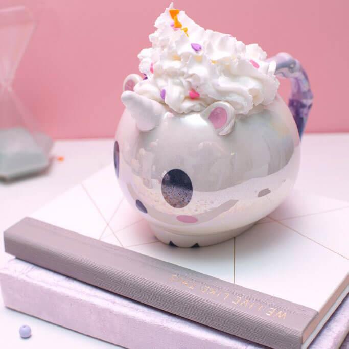 Iridescent Unicorn Skull Mug