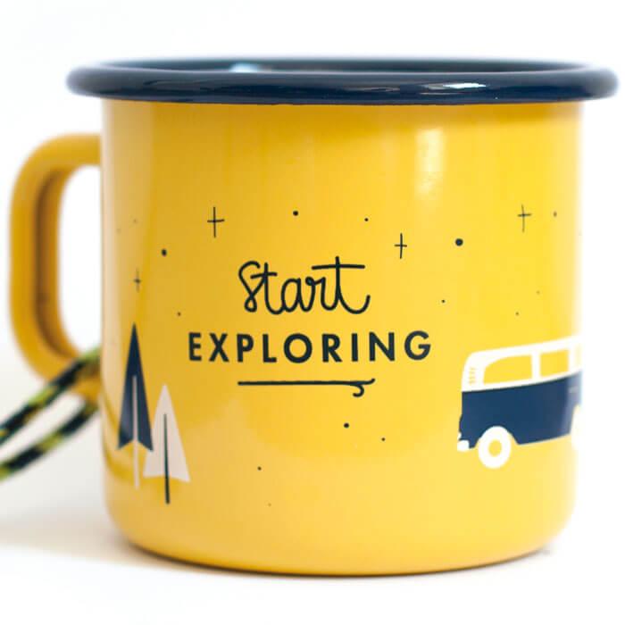 Start Exploring Enamel Mug