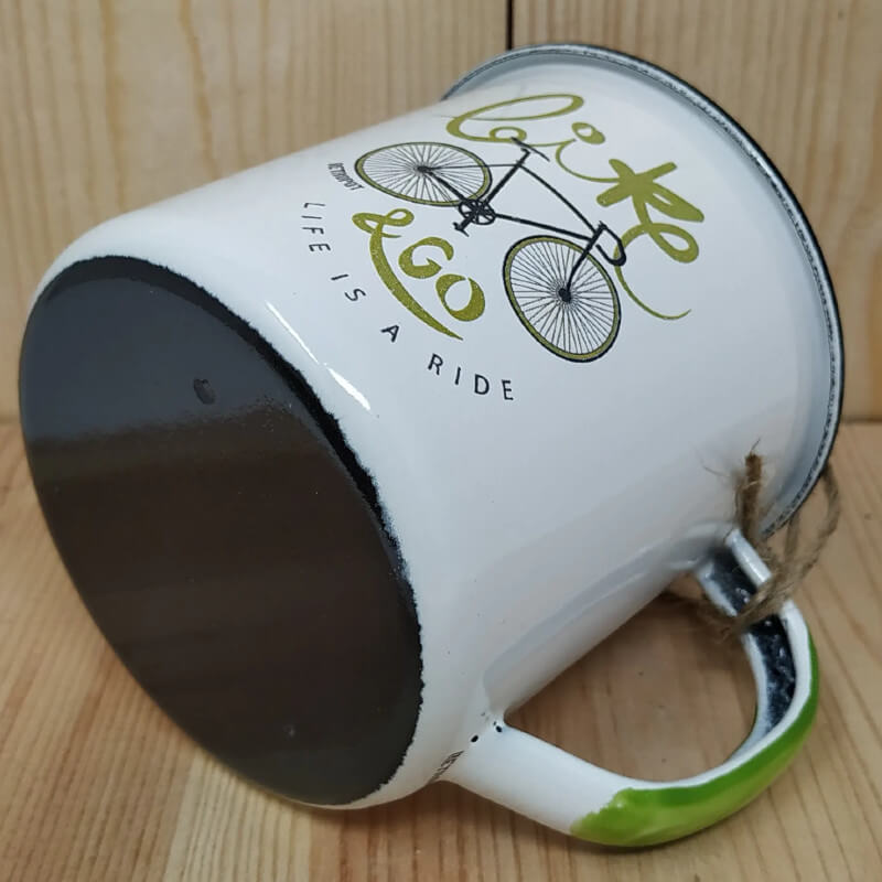 Enamel Mug Bike and Go