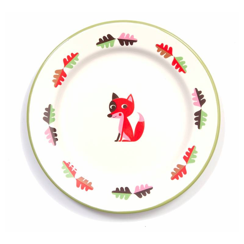 Enamel Plate Fox