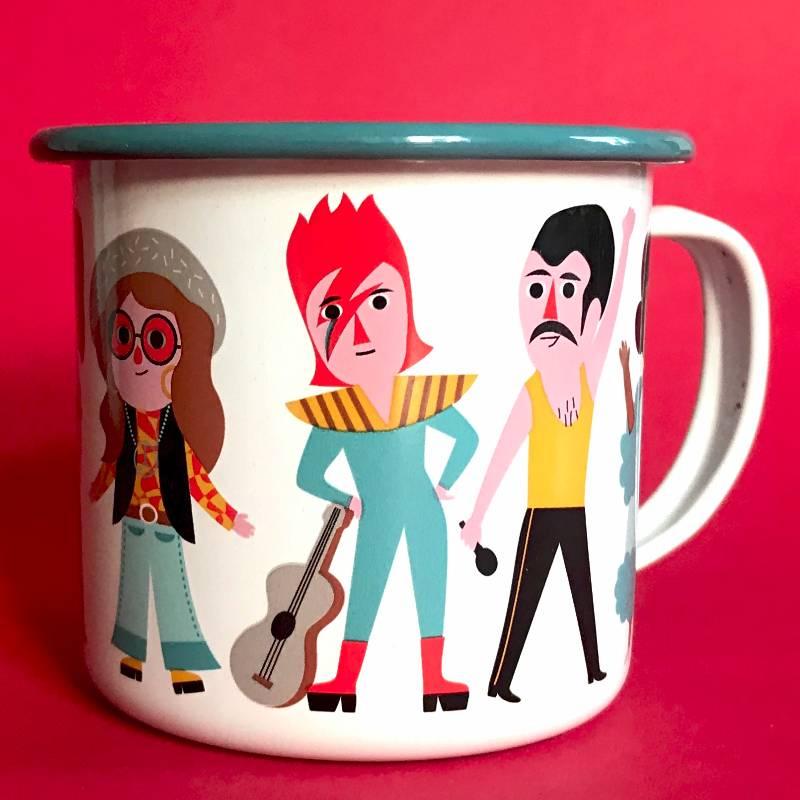 Enamel Mug Music Lover