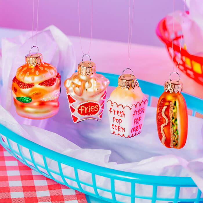 Fast Food Shaped Baubles