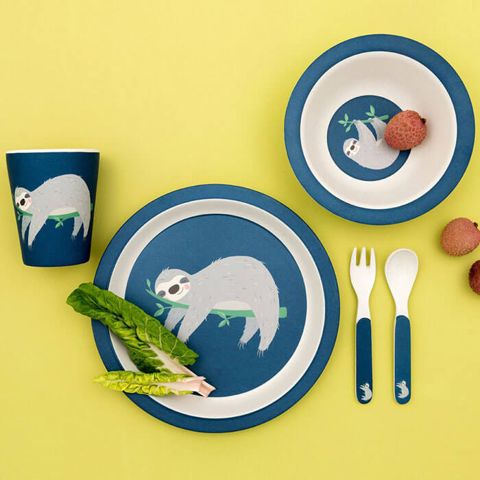 Sydney The Sloth Bamboo Tableware