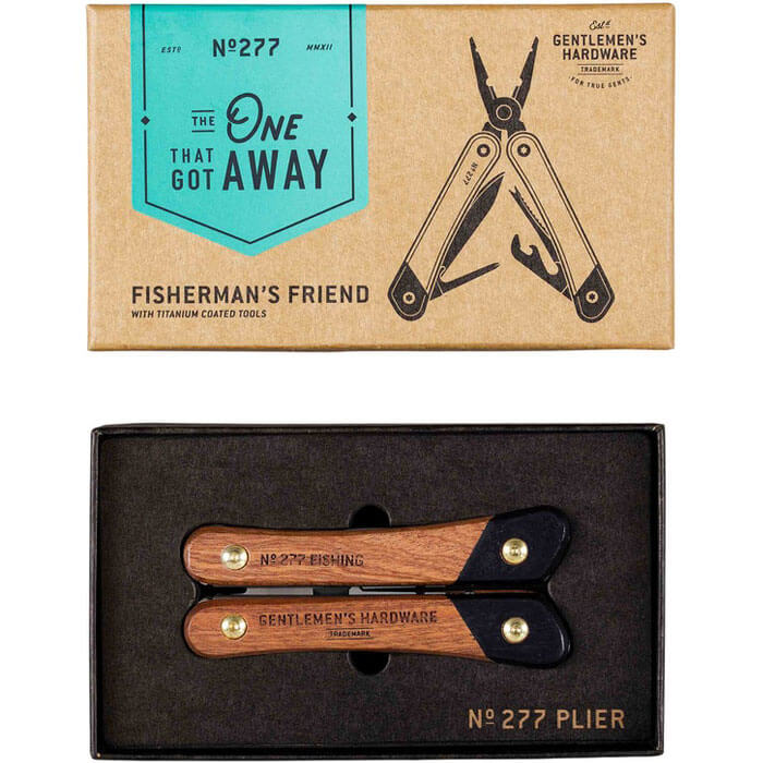 Fishing Multi-Tool, Wood & Titanium Finish