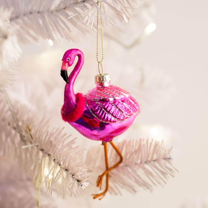 Festive Ornament Flamingo