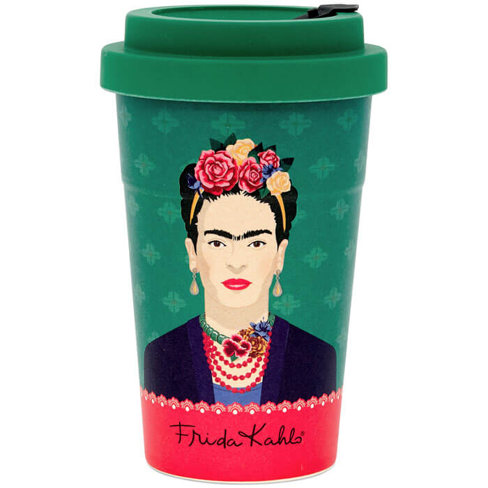 Frida Kahlo Green Vogue Travel Mug