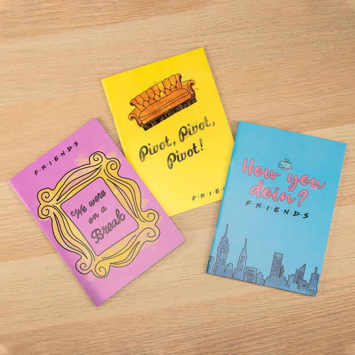 Friends Set of 3 Notebooks