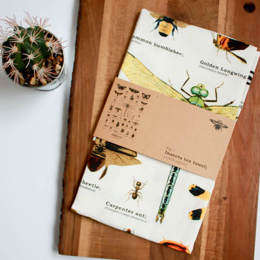 Insects Tea Towel
