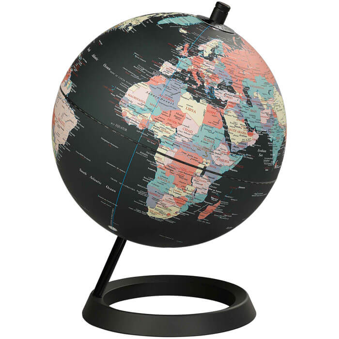 Black Ocean Globe