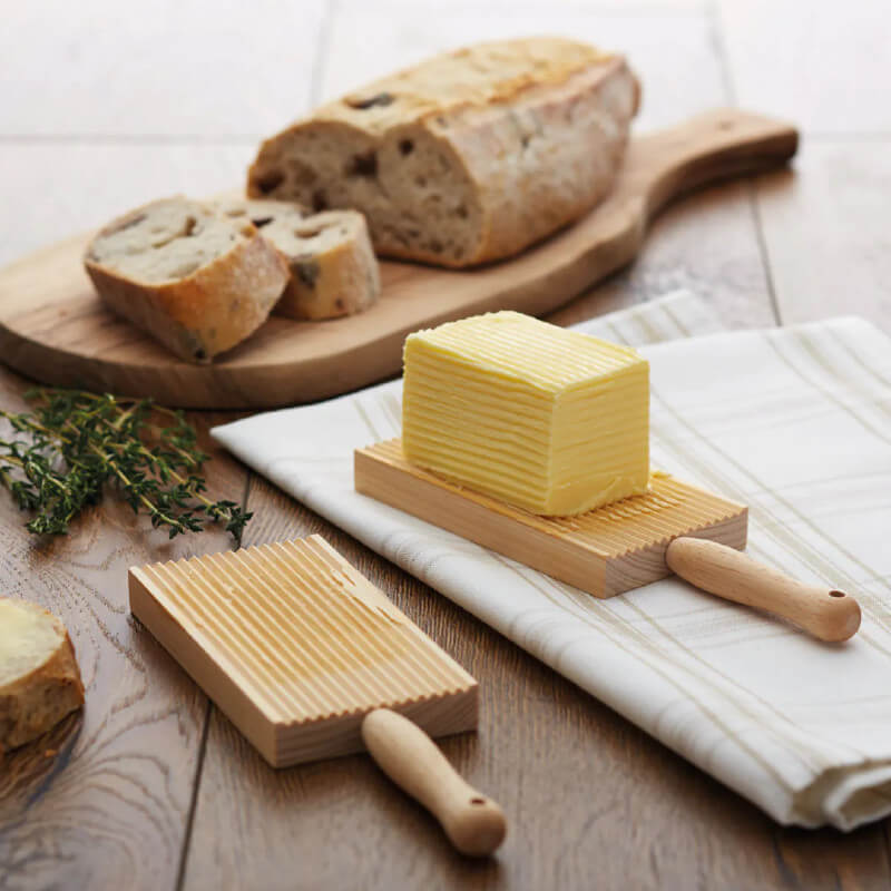 Traditional Wood Butter & Gnocchi Paddles