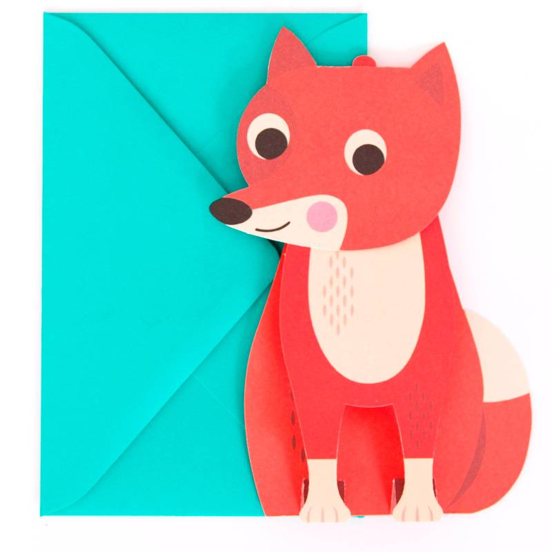 Postcard 3D Fox