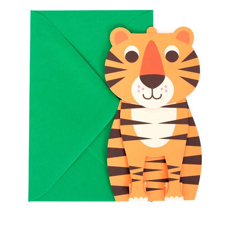 Biglietto di Auguri 3D Tigre