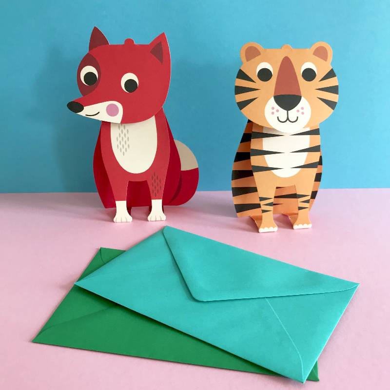 Postcard 3D Tiger