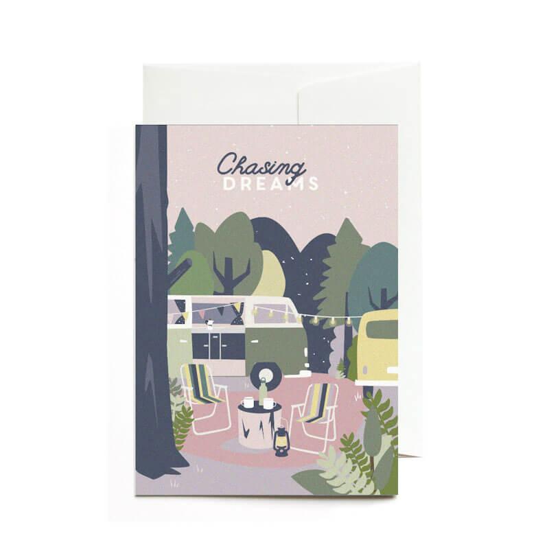 Greeting Card Chasing Dreams