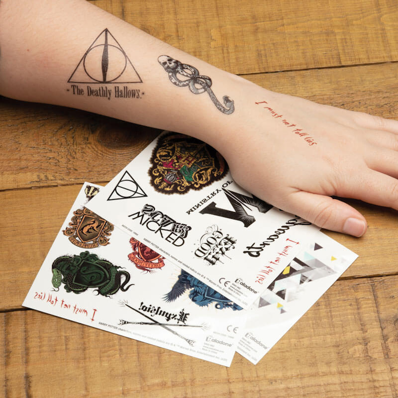 Harry Potter Klebe-Tattoos