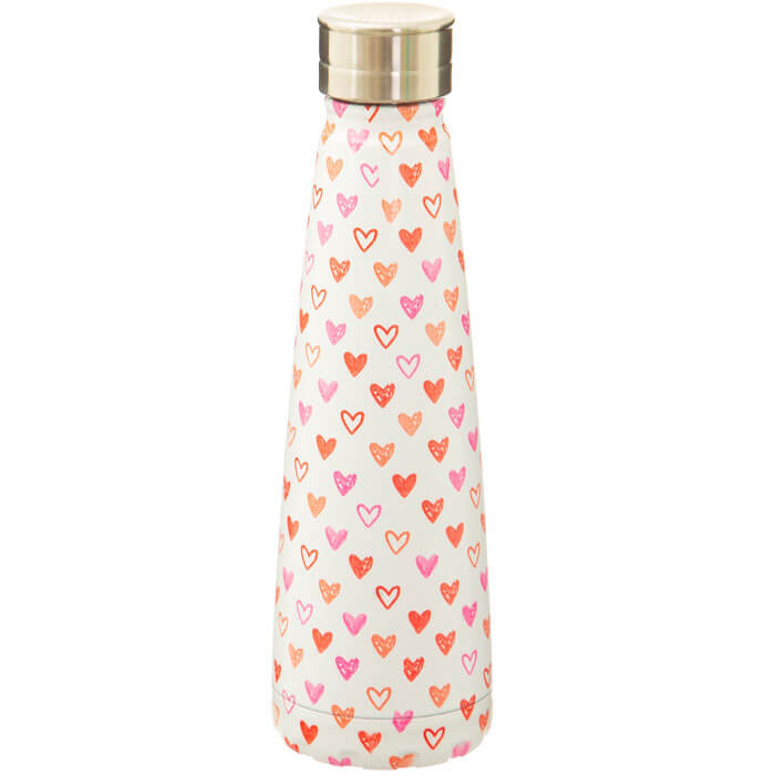 Red Love Heart Water Bottle