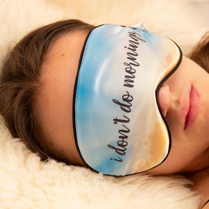 I Don't Do Mornings Sleep Mask