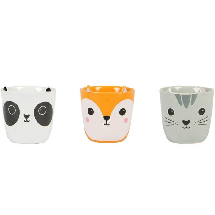 Set of 3 Kawaii Friends Egg Cups