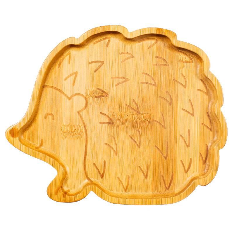 Hedgehog Bamboo Plate and Spoon Set
