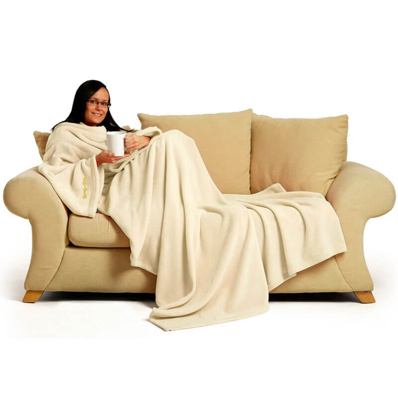 Cream Blanket With Sleeves