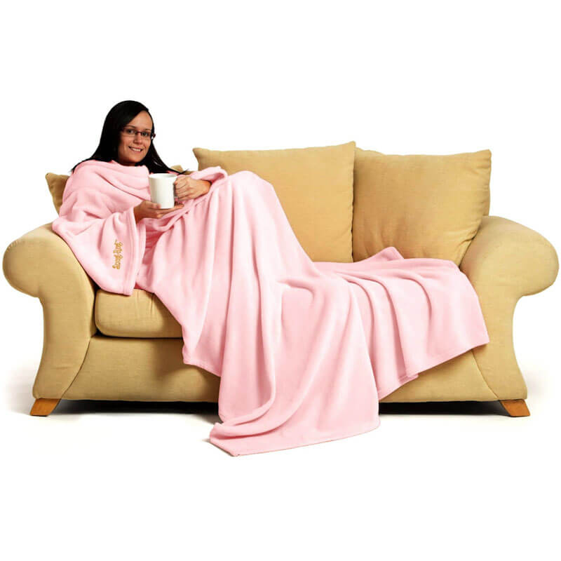 Pink Blanket With Sleeves