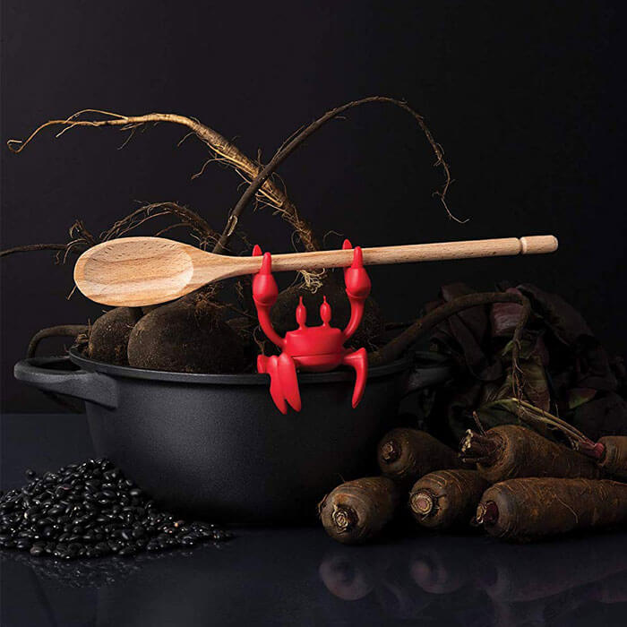 Red Crab Spoon Holder & Steam Releaser