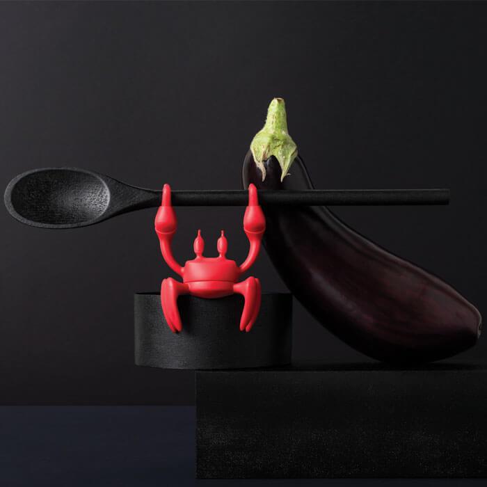 Kochlöffel- und Topfdeckelhalter Krabbe