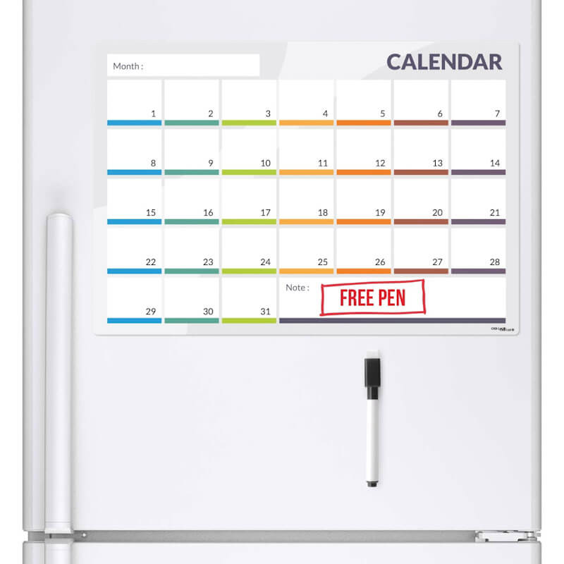 Magnetic Month Planner