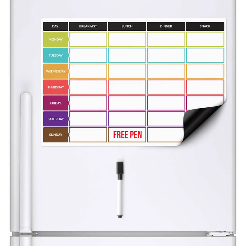 Magnetic Week Meal Planner