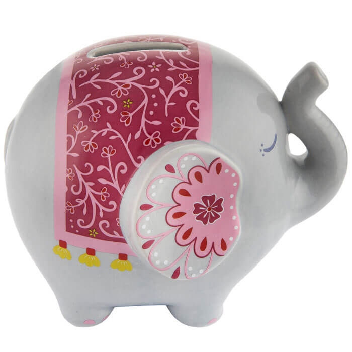 Mandala Elephant Money Box